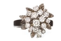 Lot 9-A DIAMOND CLUSTER RING