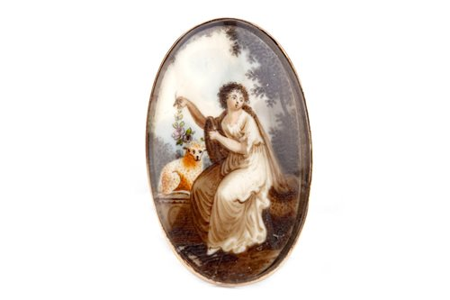 Lot 26-A 19TH CENTURY HAND PAINTED BROOCH