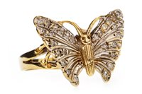 Lot 31-A DIAMOND SET BUTTERFLY MOTIF RING