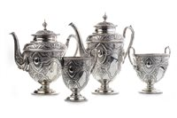 Lot 815-A VICTORIAN SILVER TEA AND COFFEE SERVICE