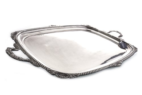Lot 816-A GEORGE V SILVER DOUBLE HANDLED TEA TRAY