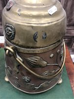 Image for A LATE 19TH CENTURY DUTCH COPPER AND BRASS FUEL BIN