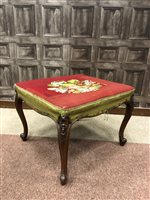Lot 807-A VICTORIAN WALNUT OBLONG STOOL