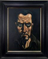 Lot 518-STUDY FOR SAINT JOHN OGILIVIE, AN OIL BY PETER HOWSON