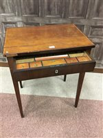 Lot 814-A REGENCY MAHOGANY OBLONG DRESSING TABLE