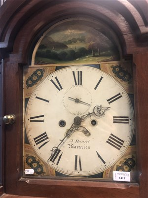 Lot 1421-A LONGCASE CLOCK BY T. DANIEL