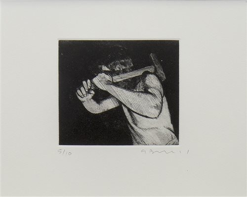 Lot 660 - HAMMER, AN ETCHING BY GERARD BURNS