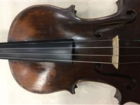 Lot 1406-A ONE PIECE BACK VIOLIN