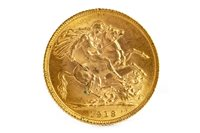 Lot 510-'Amendment: this is dated 1913 and not 1918' A GOLD SOVEREIGN, 1918