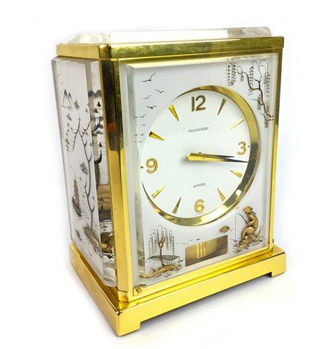 Lot 1408 - A JAEGER LE COULTRE SWISS ATMOS MARINA CLOCK