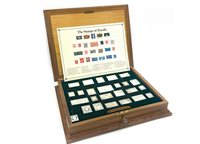 Lot 527-THE STAMPS OF ROYALTY SILVER INGOT COLLECTION