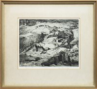 Lot 433-ELGOL, AN ETCHING BY IAN FLEMING