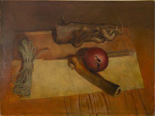Lot 652 - STILL LIFE, AN OIL BY JULIAN GORDON MITCHELL
