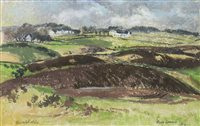 Lot 434-BURNTSHIELDS, KILBARCHAN, A PASTEL BY MARY ARMOUR