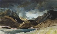 Lot 528-SCOTTISH LANDSCAPE, A WATERCOLOUR BY TOM HOVELL SHANKS