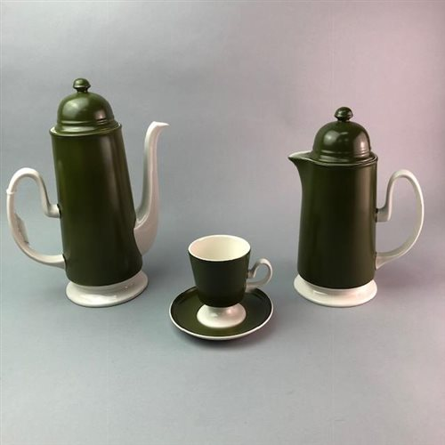 Lot 23-A CARLTON WARE COFFEE SERVICE AND ANOTHER
