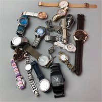 Lot 11-A LOT OF WRIST WATCHES