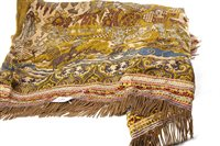 Lot 1008-A CHINESE SILK EMBROIDERED THROW