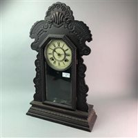 Lot 40-AN AMERICAN SHELF CLOCK