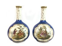 Lot 1210-A PAIR OF LATE 19TH CENTURY DRESDEN VASES