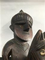 Lot 1009-A GROUP OF SIX AFRICAN WOOD CARVINGS