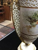 Lot 1212 - A WORCESTER GRAINGER & CO. DOUBLE HANDLED VASE AND COVER