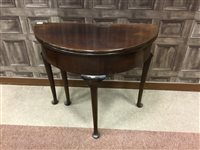 Lot 822-A VICTORIAN MAHOGANY FOLD OVER TEA TABLE
