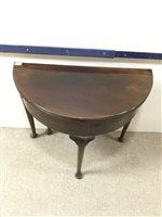 Lot 822-A VICTORIAN MAHOGANY FOLD OVER TEA TABLE