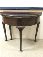 Image for A VICTORIAN MAHOGANY FOLD OVER TEA TABLE