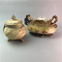 Lot 33-A ROYAL WORCESTER POT POURRI AND A CENTREPIECE