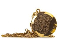 Lot 106-A GOLD PLATED LOCKET ON CHAIN