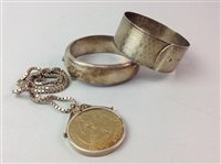 Lot 7-A GROUP OF SILVER AND COSTUME JEWELLERY