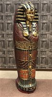 Lot 823-A FULL SIZE REPRODUCTION SARCOPHAGUS STORAGE CABINET