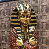 Image for A FULL SIZE REPRODUCTION SARCOPHAGUS STORAGE CABINET