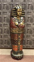 Lot 827-A FULL SIZE REPRODUCTION SARCOPHAGUS STORAGE CABINET