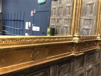 Lot 828-A MODERN GILTWOOD CONSOLE TABLE WITH LARGE MIRROR