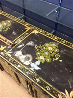 Lot 826-A BLACK AND POLYCHROME SIDEBOARD