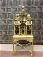 Lot 825-AN IMPRESSIVE INDIAN LIGHTWOOD BIRD CAGE
