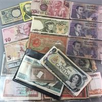 Lot 44-A LOT OF FOREIGN BANKNOTES