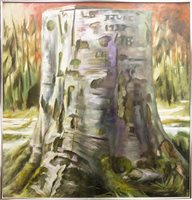 Lot 643 - HISTORIC TREE, AN OIL BY STEPHEN BARCLAY