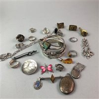 Lot 9-A LOT OF SILVER AND OTHER JEWELLERY