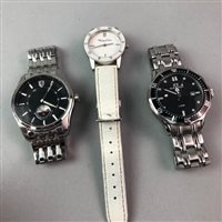 Lot 8-A LOT OF THREE GENTS' WRIST WATCHES AND A LADY'S WATCH