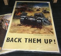 Lot 839-A LOT OF TWO WWII POSTERS