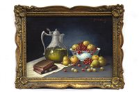 Lot 438-A PAIR OF STILL LIFES, BY FRANZ NOWAK