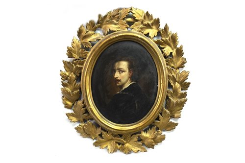Lot 614-PORTRAIT OF A GENTLEMAN