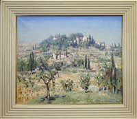 Lot 540-HILL VILLAGE TUSCANY,  AN OIL BY WILLIAM WRIGHT CAMPBELL