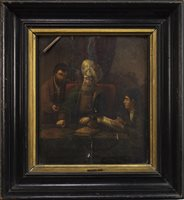 Lot 445-THE MONEY LENDER, AN OIL
