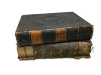 Lot 841-A SIXTEENTH CENTURY BIBLE ALONG WITH A VICTORIAN BIBLE