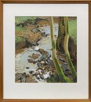 Lot 683 - ROCKY STREAM, AN OIL BY DOUGLAS LENNOX