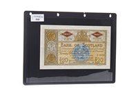 Lot 510 - A BANK OF SCOTLAND £20 TWENTY POUNDS NOTE, 1963